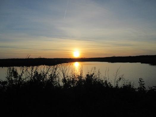 November 2014 - Nog een mooie foto van de zonsondergang
