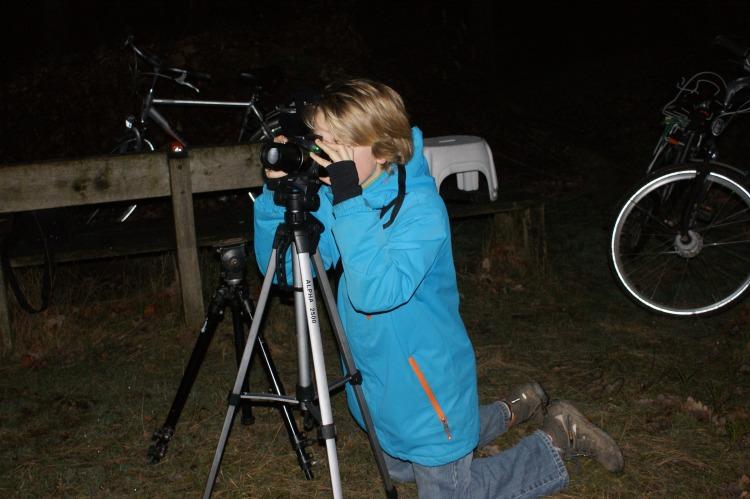 Hier ben ik in actie met mijn eigen camera - foto Henk Kloen