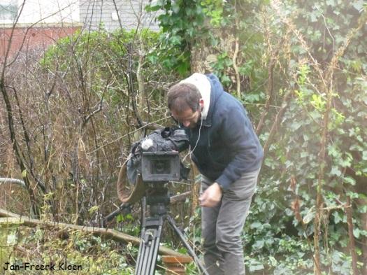 De cameraman in de achtertuin
