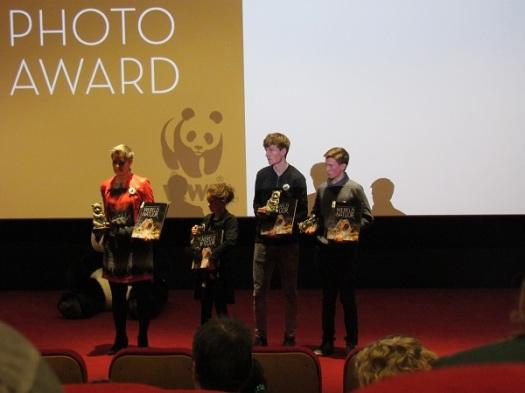 Alle prijswinnaars, waaronder Corné (rechts)